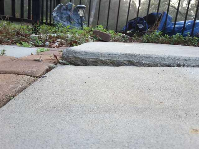 Sinking Pool Deck in Moncks Corner, SC - Before Photo