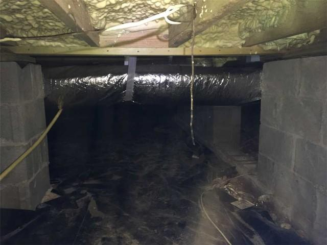 Sagging Floor in Warner Robins, GA Crawl Space