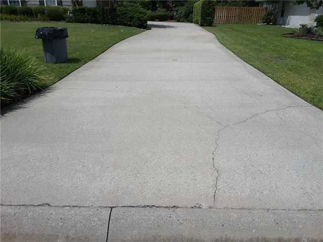 Unsightly Cracked Concrete Repaired In Brunswick, GA