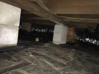 Damp Crawl Space Dehumidified, Encapsulated in Metter, GA