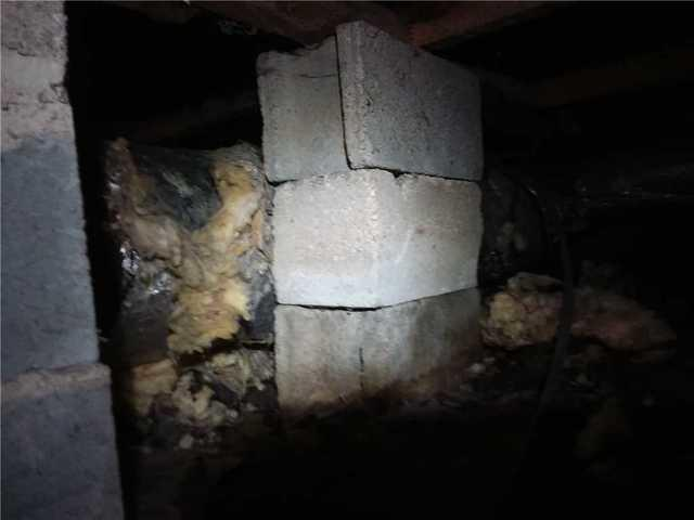 Moncks Corner, SC Crawl Space is Fixed with SmartJack System! - Before Photo