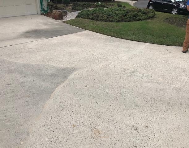 Cracked Driveway stabilized and cracks repaired in Savannah, GA