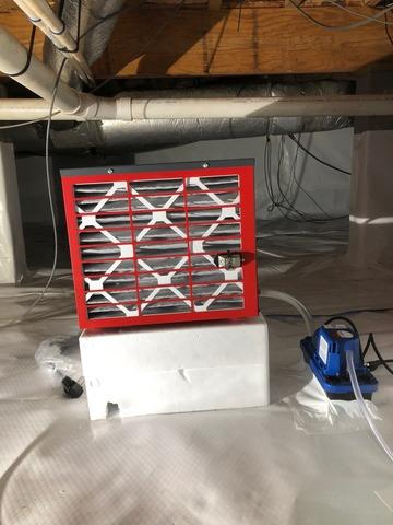Dehumidifier Installed in Crawl Space in Charleston, SC