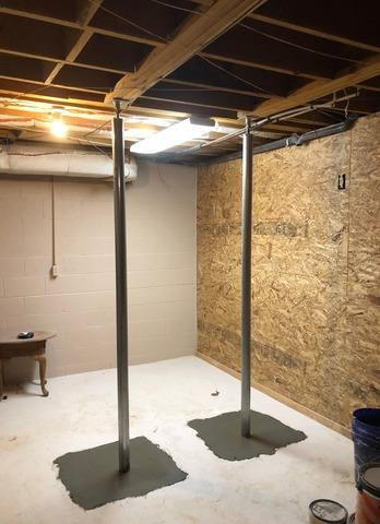 Floor Supports Needed for Basement Ceiling in Macon, GA