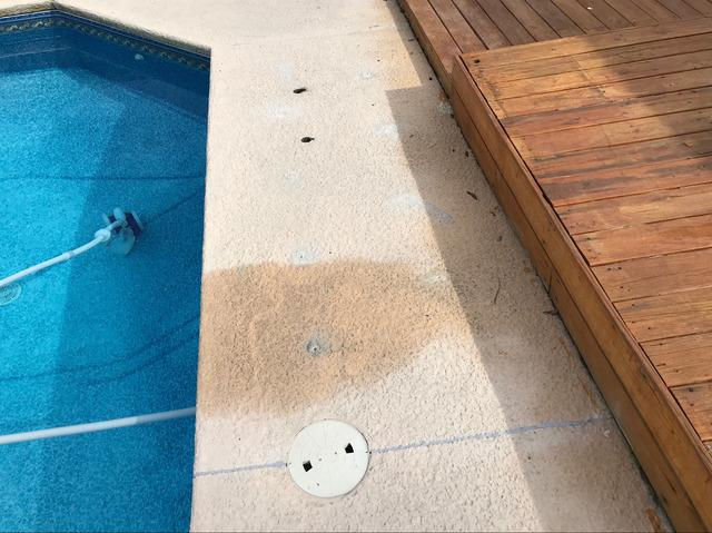 Leveled Pool Deck in Glennville, GA