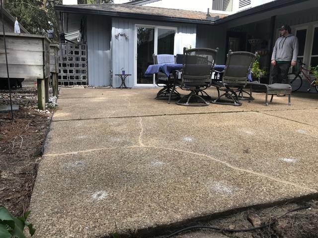 Backyard Patio Leveled and Sealed in Hilton Head Island, GA