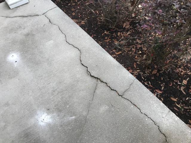 Cracked Sinking Porch Fixed in Savannah, GA