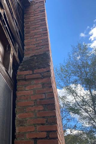 Tilting Chimney Supported in Eastman, GA