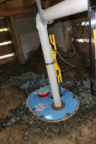 Crawlspace Waterproofed in Oakatie, SC