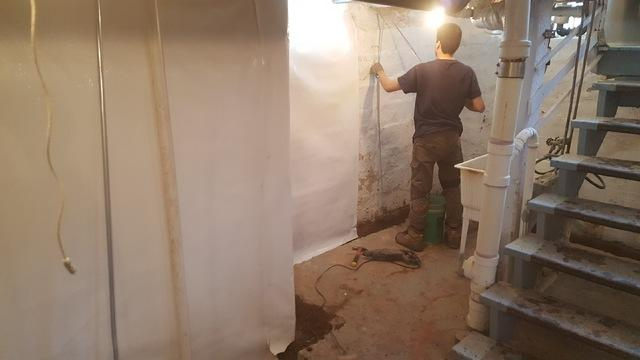 Basement WaterGuard and CleanSpace Wall System in West Duluth, MN