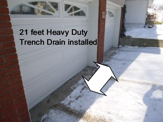 Trench Drain in Port Colborne - Before Photo