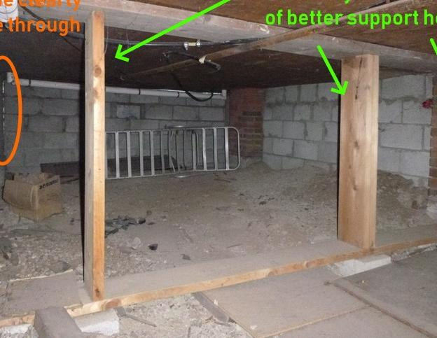 Crawlspace support and encapsulation in St. Catharines - Before Photo