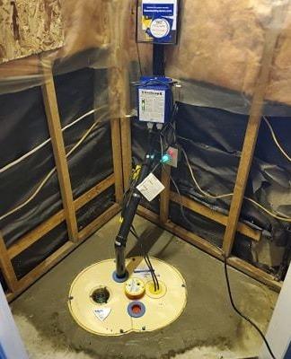 Sump Pump replacement in Cambridge