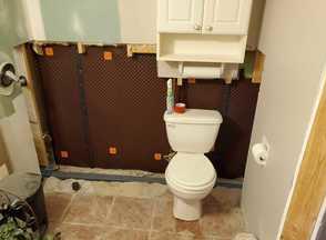 Waterproofing a basement bathroom in Hamilton, ON