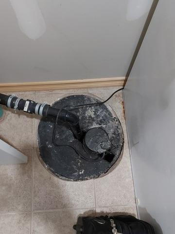 Sump Pump replacement in Burlington, ON