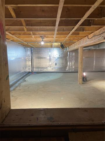 Crawlspace Waterproofing and insulation in Caledonia, ON