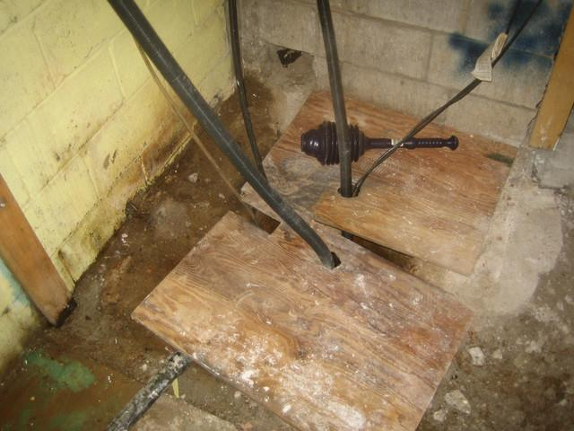 Basement Drain and SuperSump in Greensville, ONT - Before Photo