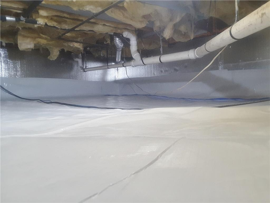 Crawl Space Encapsulation and Insulation in Montgomery, NJ - After Photo