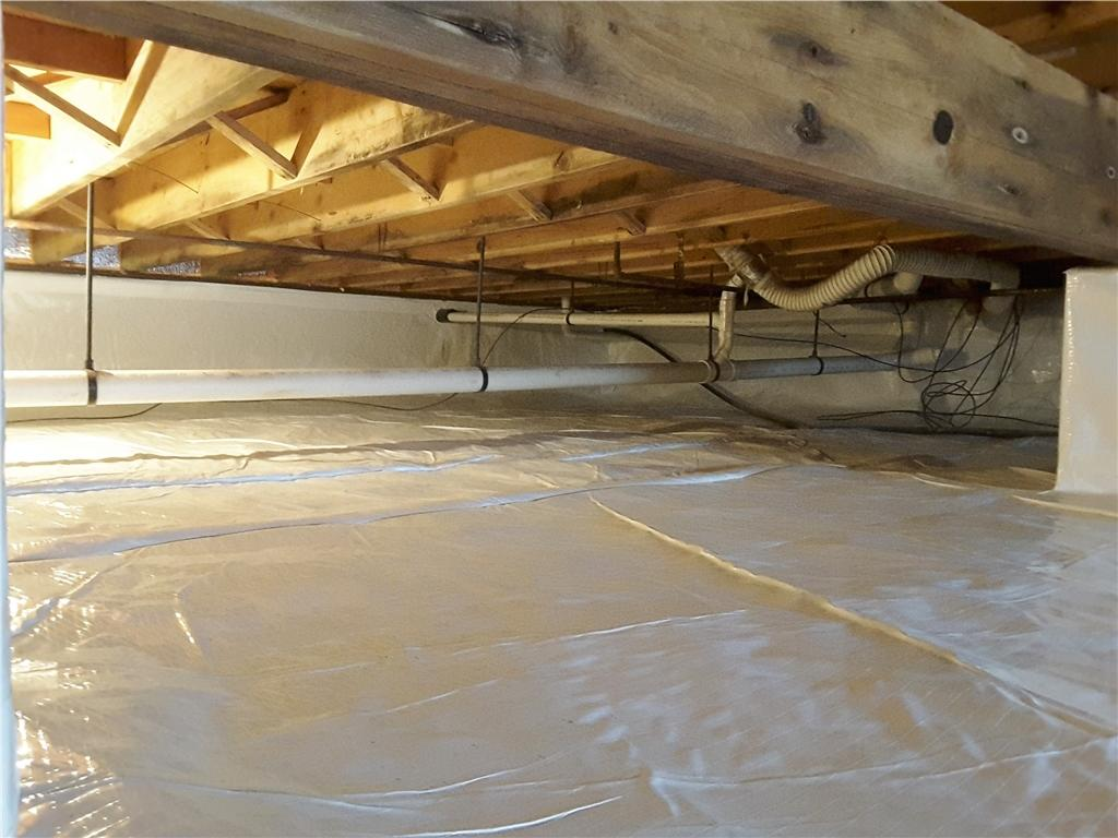 Crawl Space Vapor Barrier Installed in Toms River - After Photo
