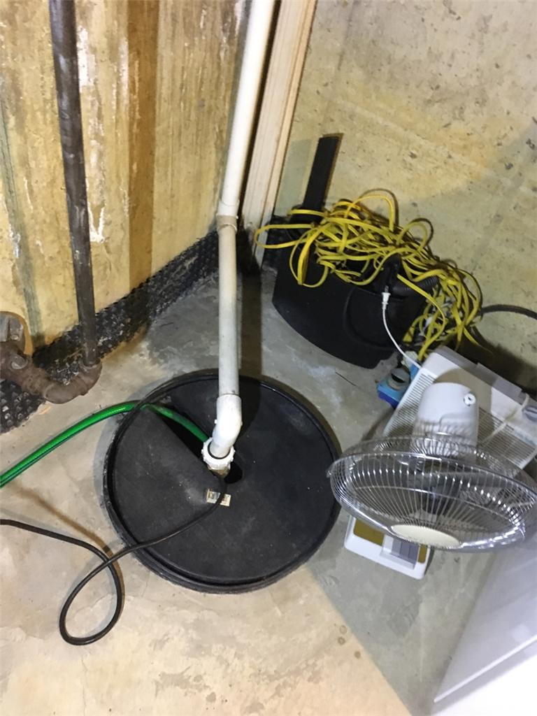 Sump Pump Replacement in Mt. Laurel, NJ - Before Photo