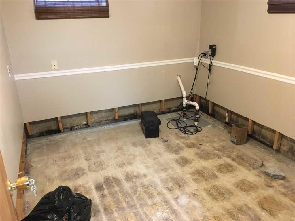 Basement Flooring Installation in Hamilton, NJ - Before Photo