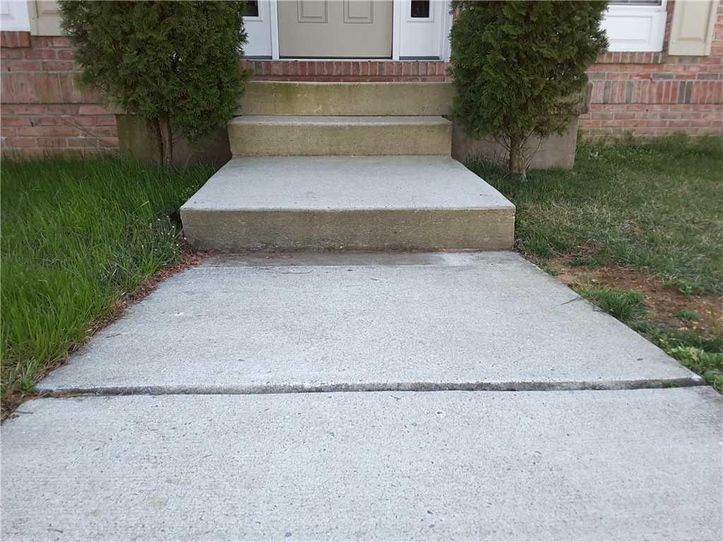Sinking and Settling Steps in Bridgeton, NJ - Before Photo