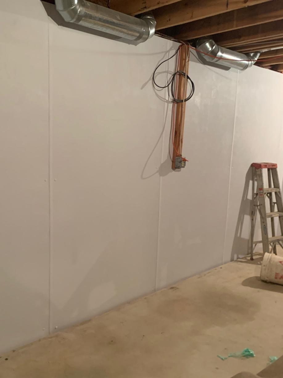 Cleaner, Brighter Basement Walls Installed in Marlboro, NJ - After Photo
