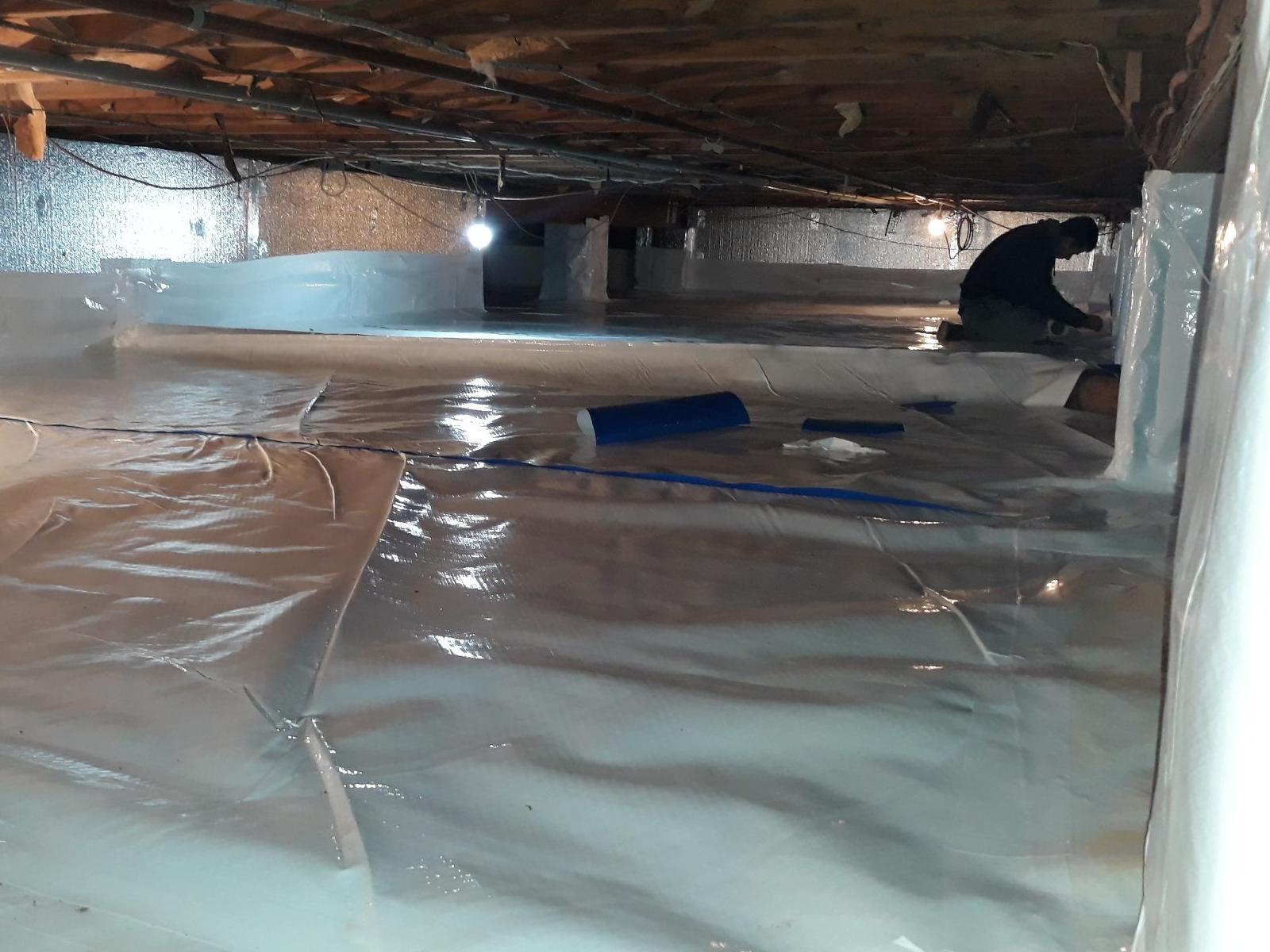 Even Cement Crawl Space Floors Get Wet - Hazlet, NJ - After Photo
