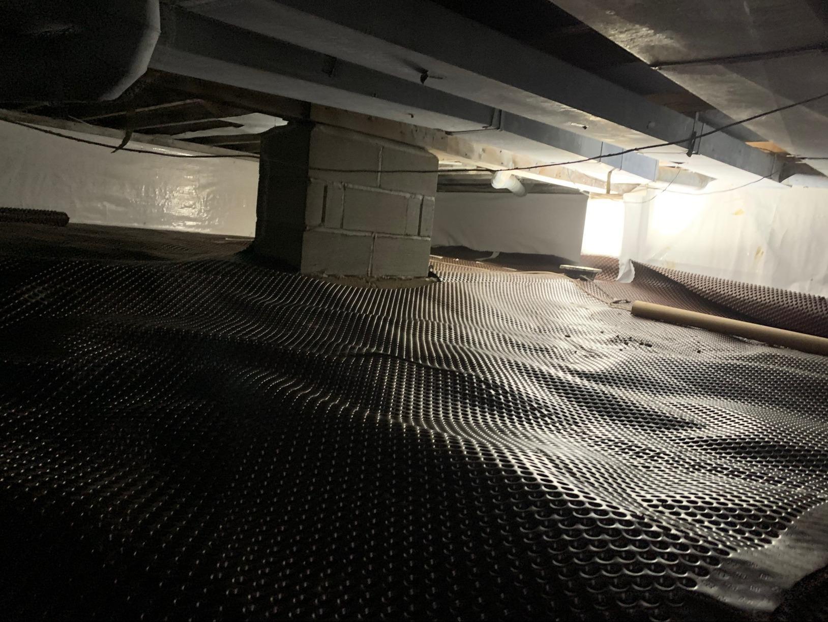 CrawlSpace Moisture Barrier Installation in Flemington, NJ - Before Photo