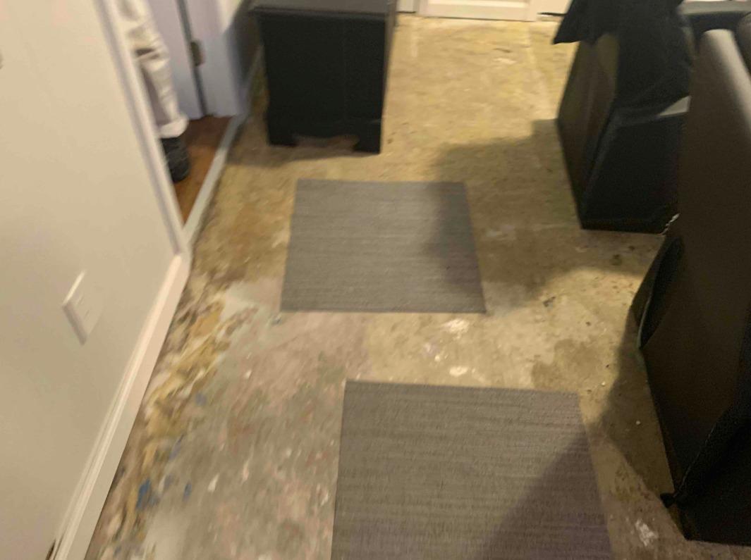 New Waterproof Flooring in Delran, NJ - Before Photo