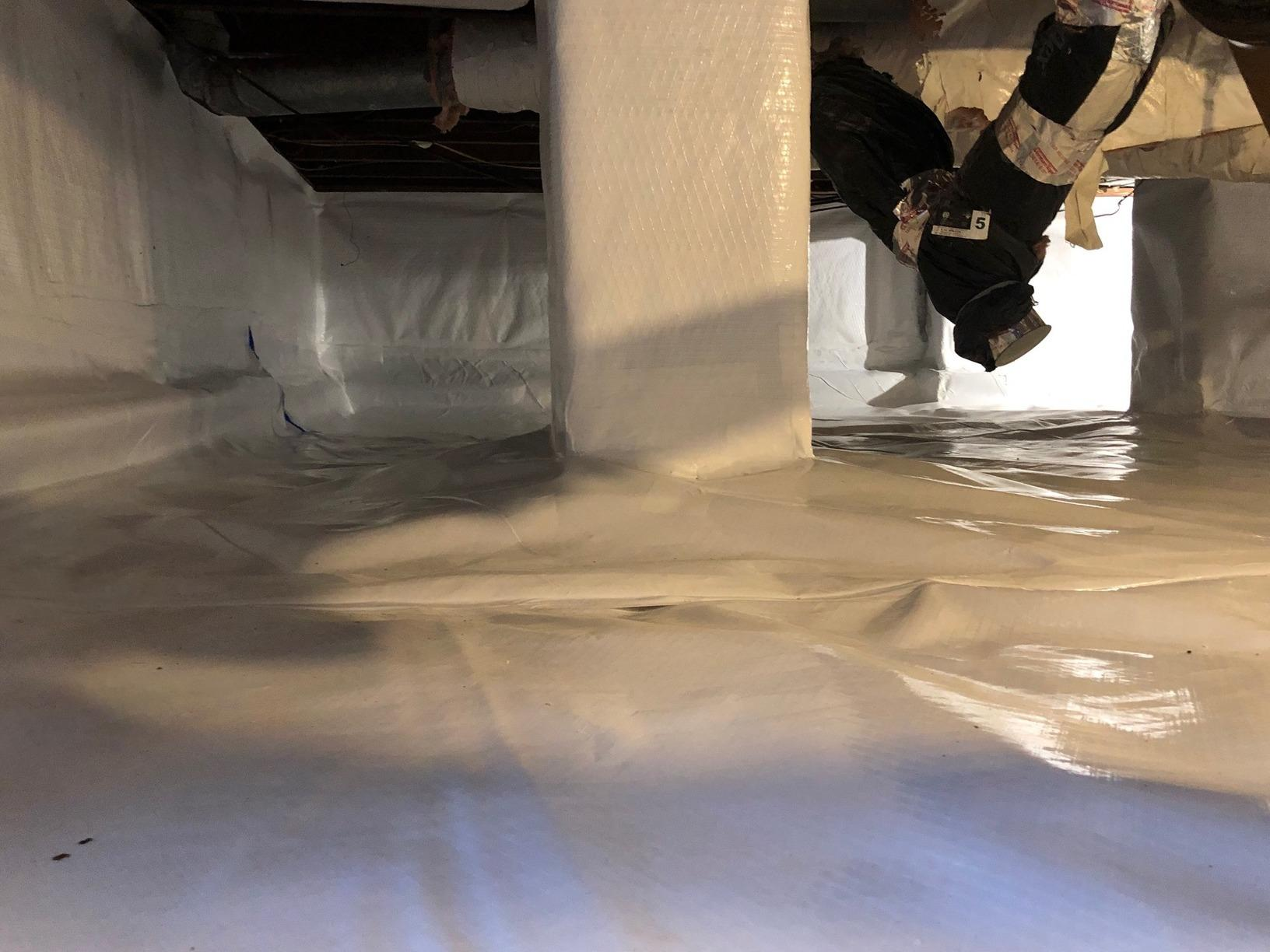 Wet Crawl Space Transformation in Clayton, NJ - After Photo