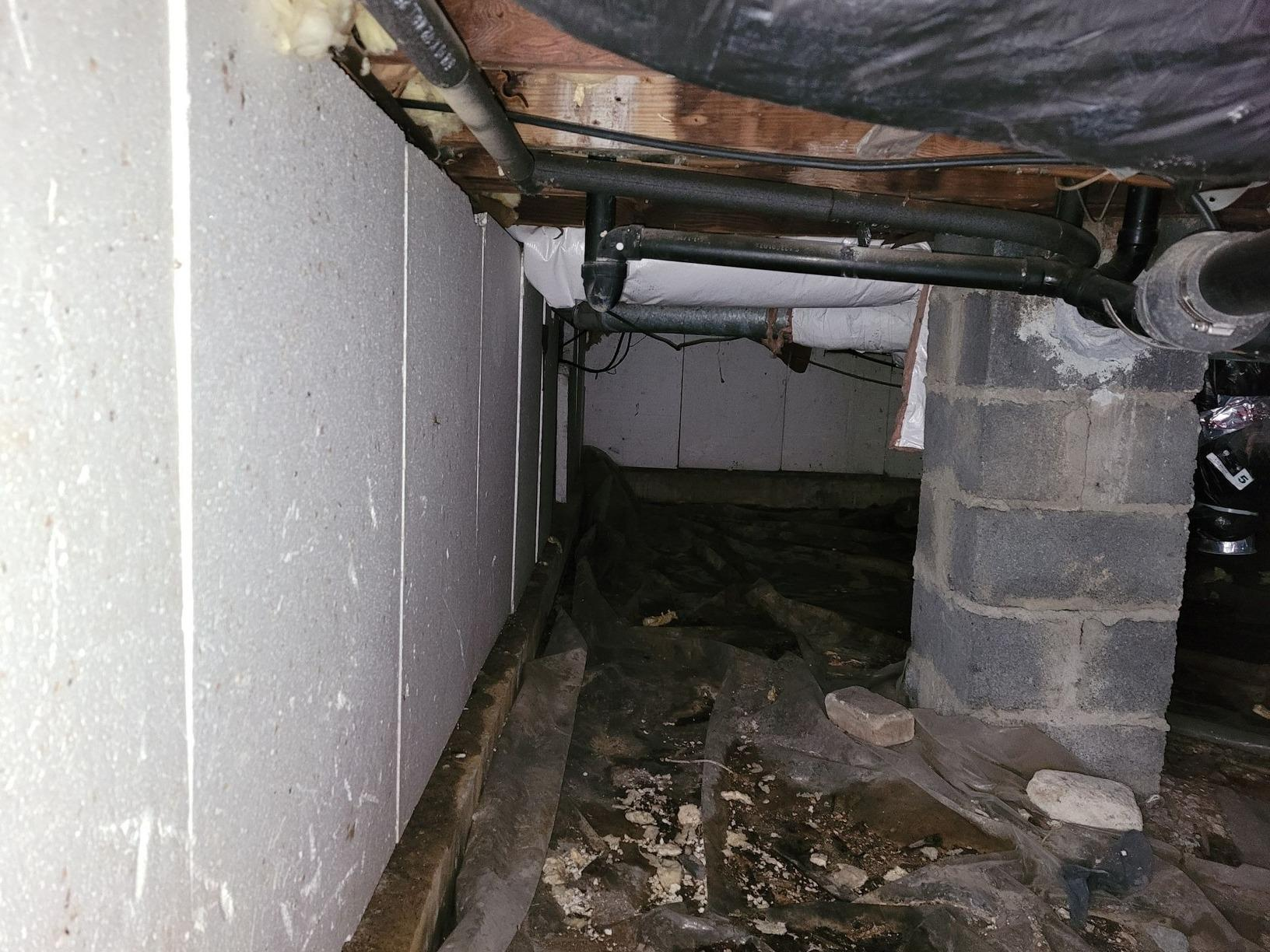 Wet Crawl Space Transformation in Clayton, NJ - Before Photo