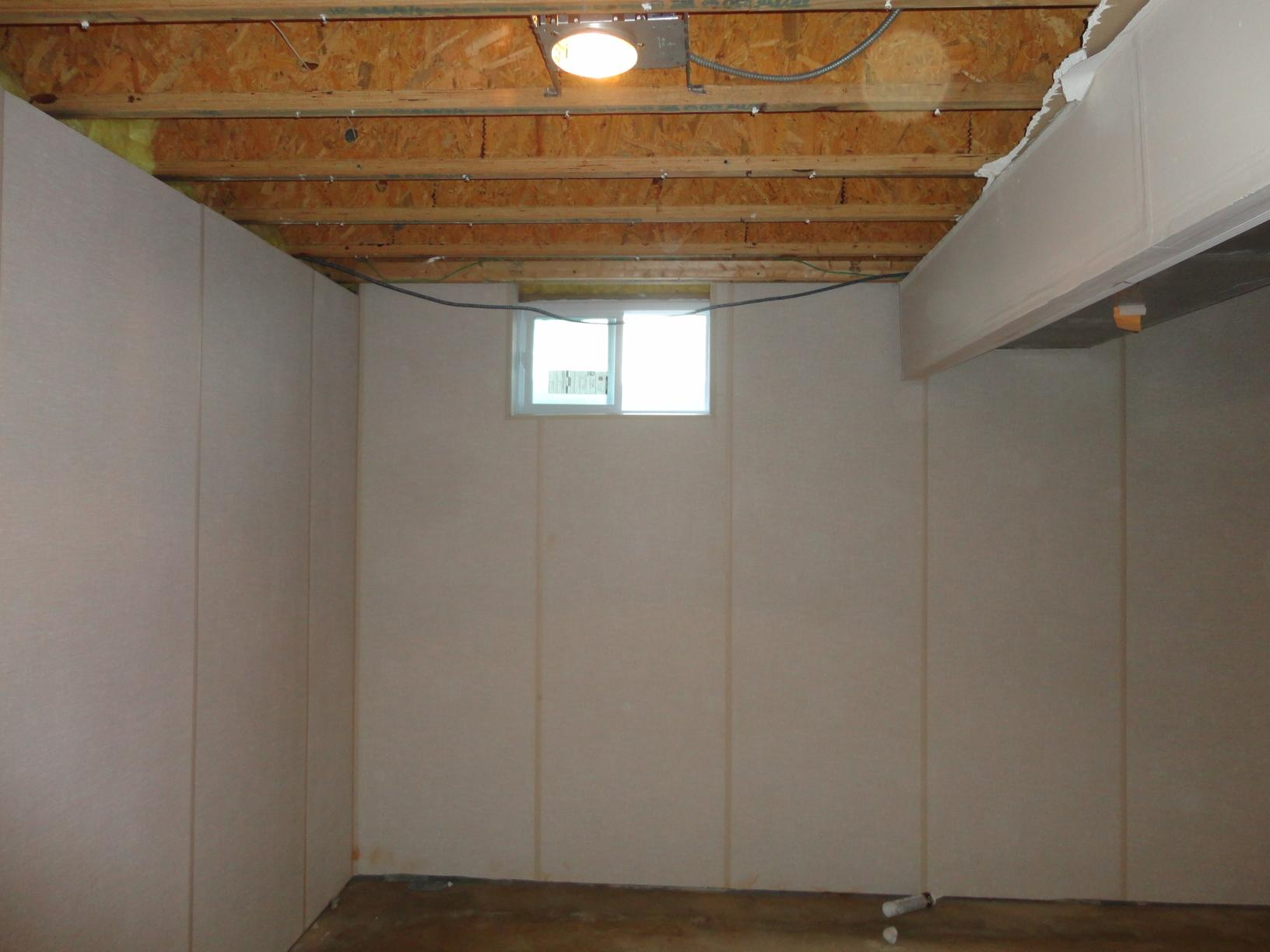 Installation of EverLast Wall and ThermalDry Floor in Finished Basement - After Photo