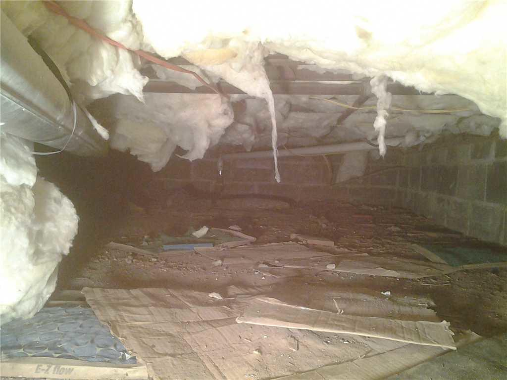 Humidity in Crawl Space Repaired in Colonia, NJ - Before Photo