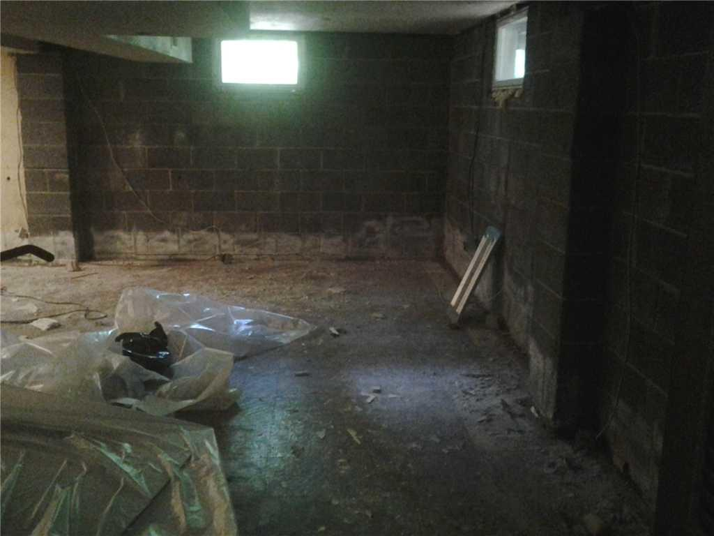 Cherry Hill Home Foundation Repair and Basement Refinished in Cherry Hill, NJ - Before Photo