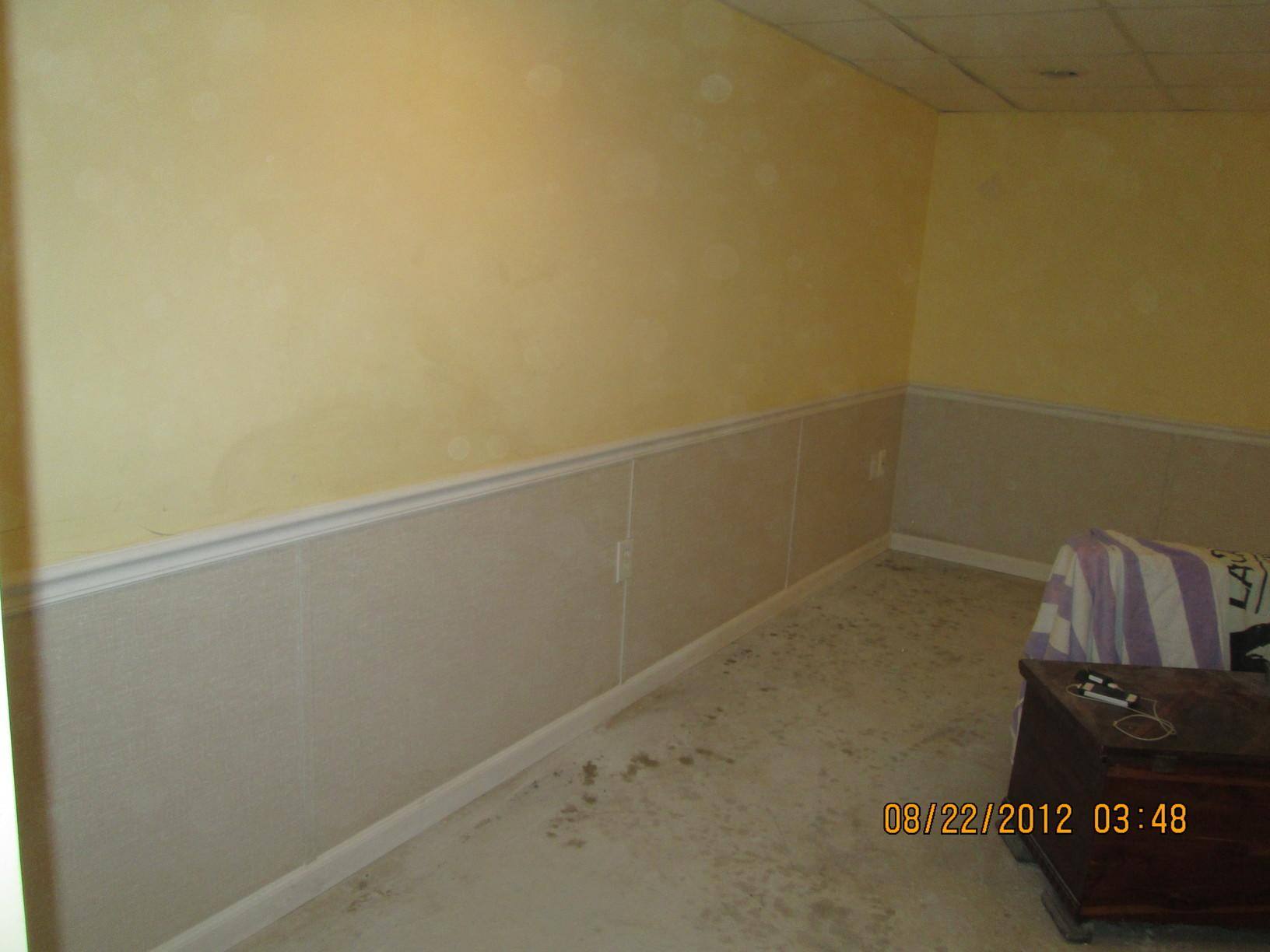Half Wall EverLast Restoration for a Finished Basement - After Photo