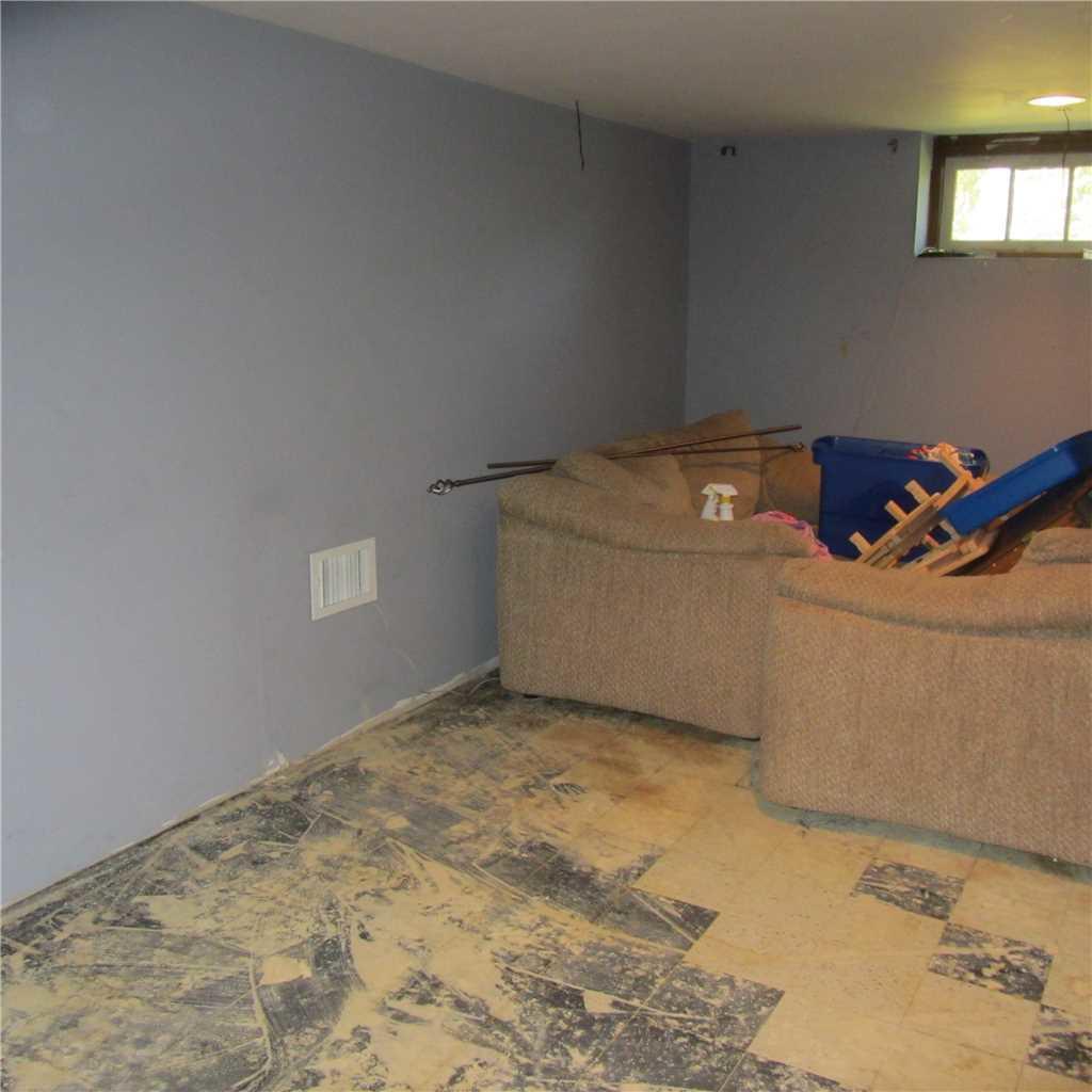 Waterproof Basement Subflooring  Installed in Pennington, NJ - Before Photo