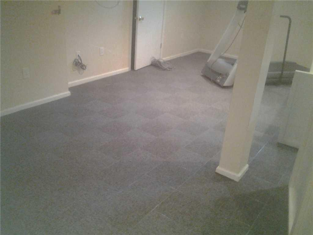 Comfortable Basement Flooring Install in Vicentown, NJ - After Photo