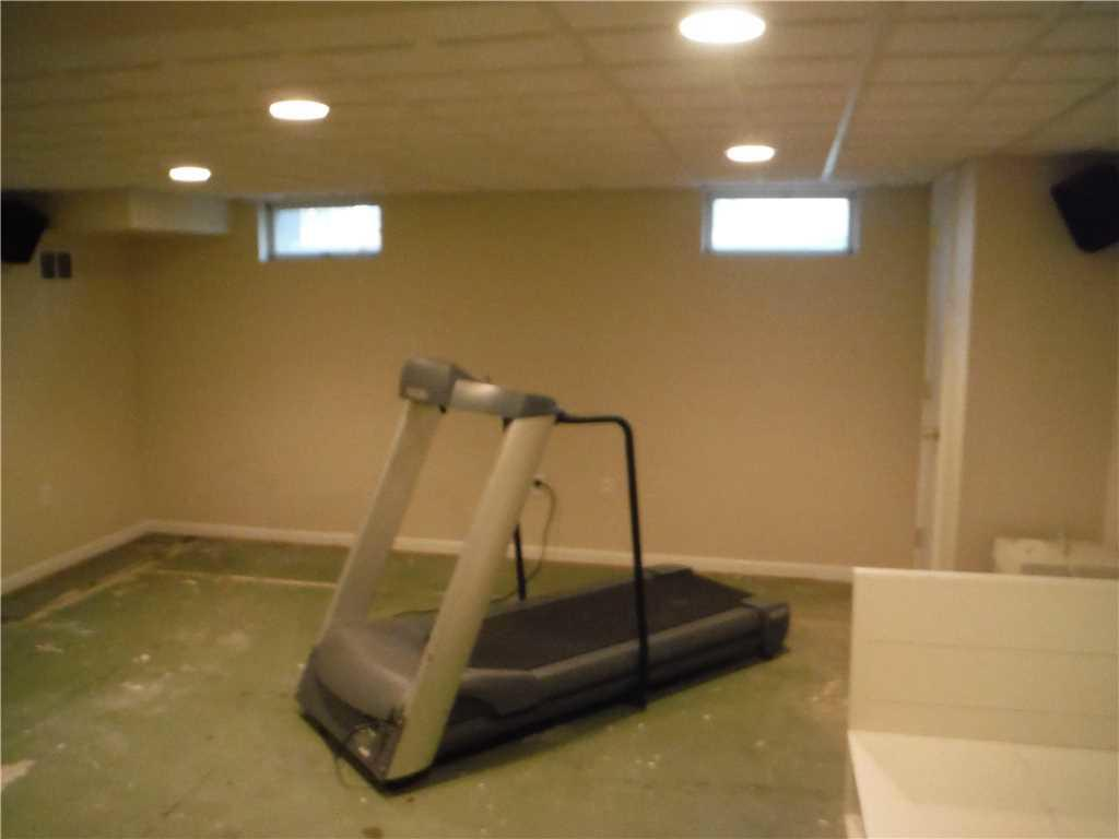 Comfortable Basement Flooring Install in Vicentown, NJ - Before Photo