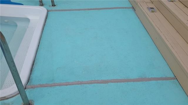 Normandy Beach, NJ Pool Patio is Leveled
