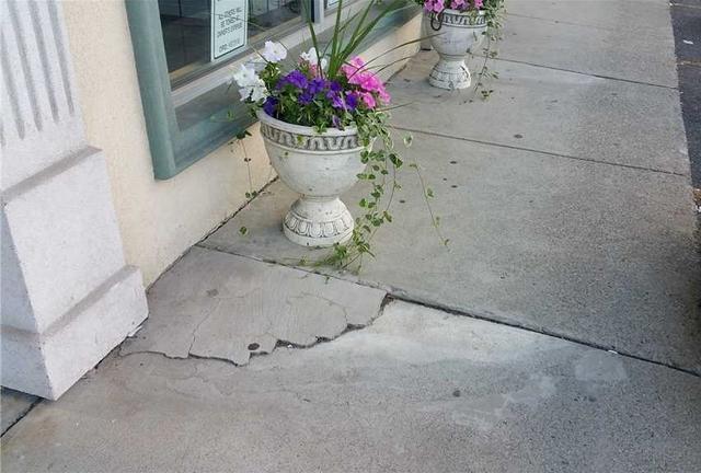 Store Sidewalk is Raised in North Haledon, NJ