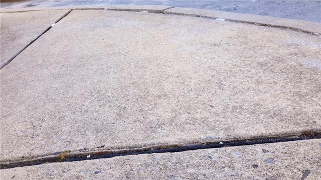Sinking Sidewalk outside Hotel in Bordentown, NJ