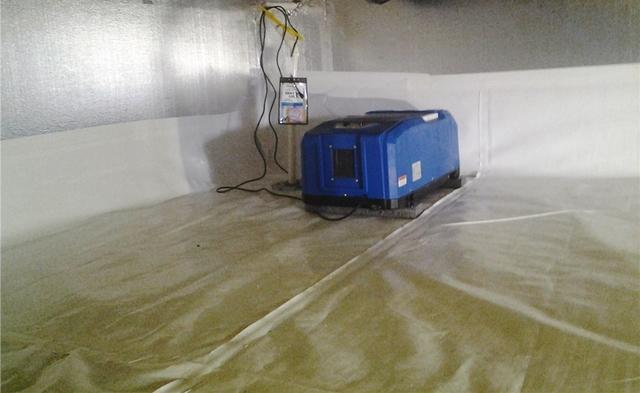 Skillman, NJ Crawl Space is Waterproofed After Storm