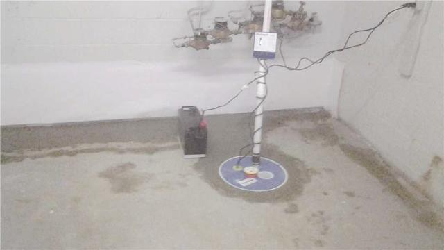Uncovered Sump Pump Replaced with TripleSafe Sump Pump in Wood Ridge, NJ