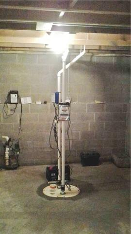 TripleSafe Sump Pump installed in Frenchtown, NJ