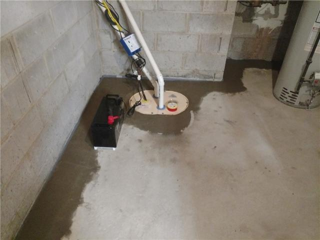 Open Sump Pump Replaced with Sealed TripleSafe Sump Pump, South Brunswick Township, NJ