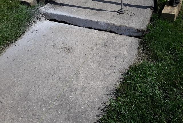 Miltown Homeowner Sidewalk Lifted and Leveled