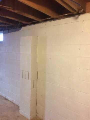 Vertical Cracks and Bowing Foundation Walls Repaired in Toms River, NJ