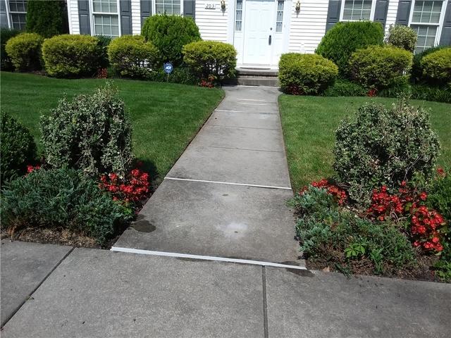 PolyLevel raises settled sidewalk in Moorestown, NJ