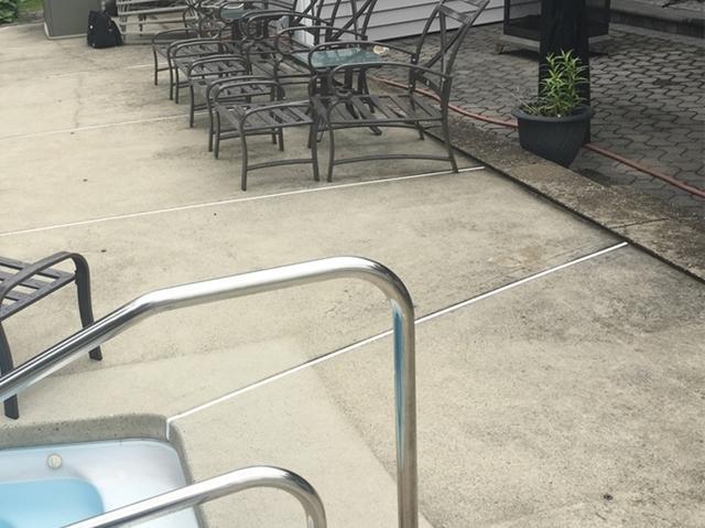 Sinking Concrete Around Pool in Clark, NJ